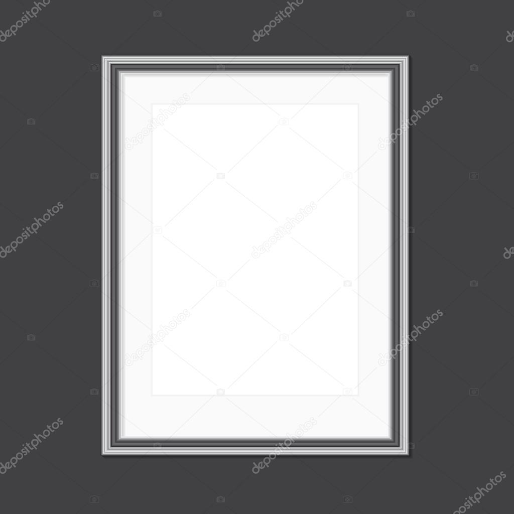 schwarzen und weißen Bilderrahmen mit Fenster mat — Stockvektor ...