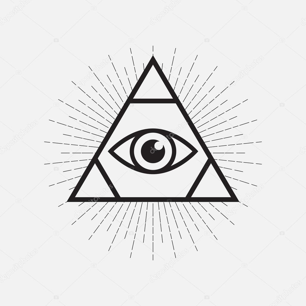 All seeing eye symbol triangle with rays stock vector all seeing eye symbol triangle with rays stock vector biocorpaavc