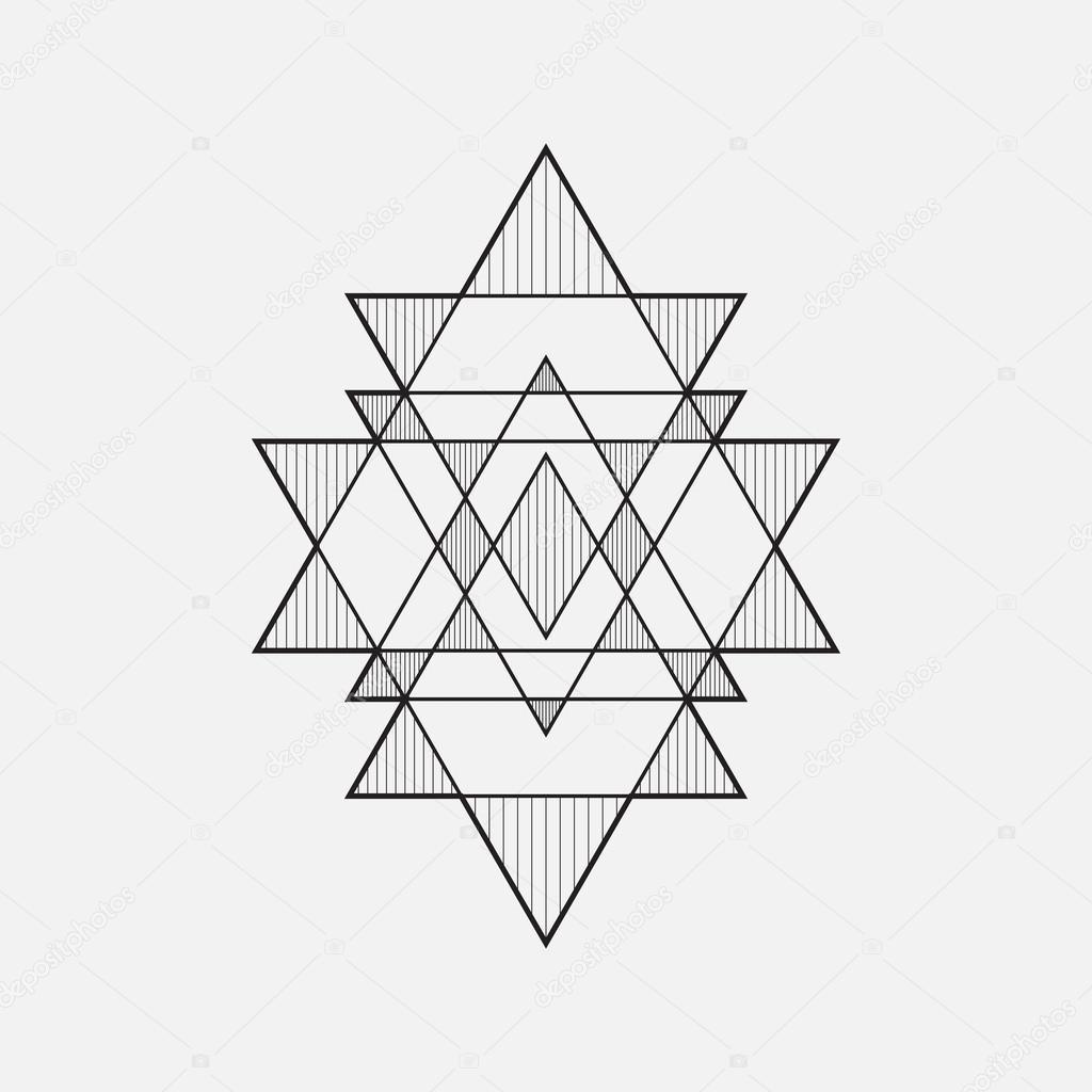 Formas Geométricas, Desenho De Linha, Triângulo
