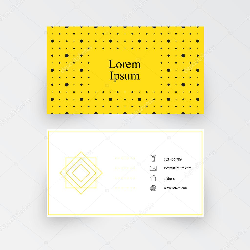 modern simple business card template geometric pattern ストック