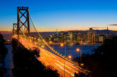 夕暮れ時、サンフランシスコ