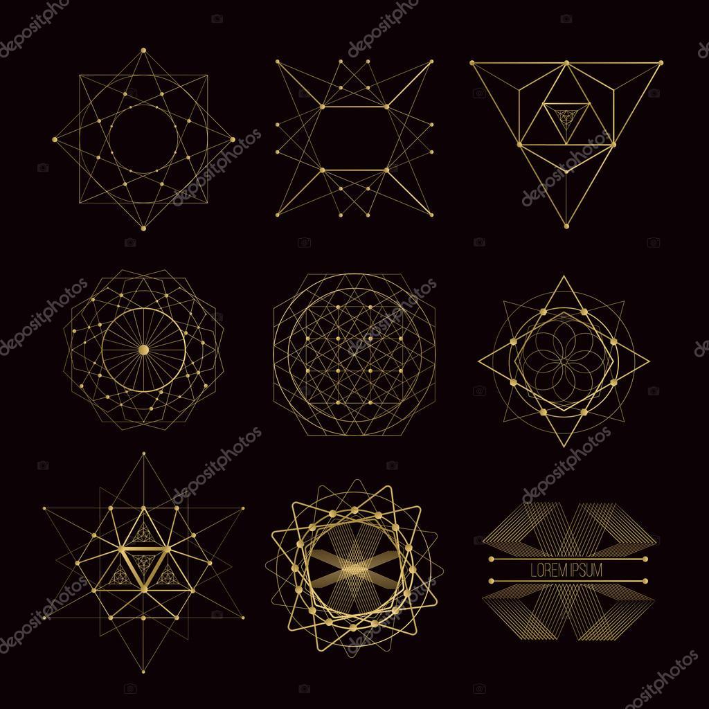 heilige geometrie formen stockvektor deedman 105629578. Black Bedroom Furniture Sets. Home Design Ideas
