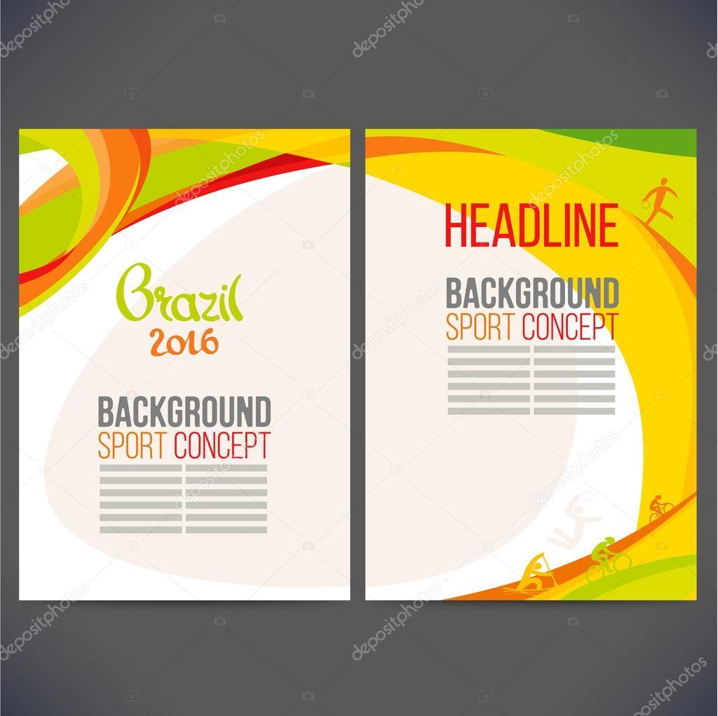 Vector abstracto diseño de plantillas, folletos, sitios Web ...
