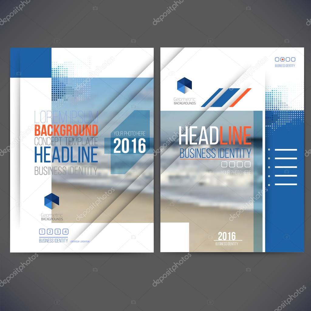 Vektor Vorlage Design Geschäftsbericht 2017, Layout mit bunten Meer ...