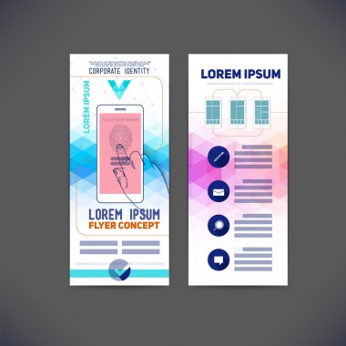 Abstract  template flat design