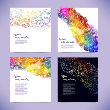 Corporate identity kit or business kit with artistic