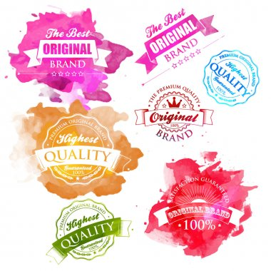 Vector Collection of Premium Quality and Guarantee Labels