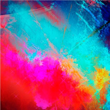 Abstract watercolor palette of blue colors, mix color