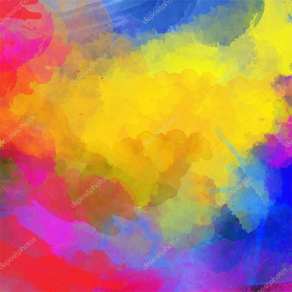 Abstract Watercolor Palette Of Blue Colors Mix Color