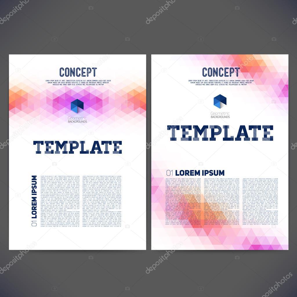 Vector abstracto diseño de plantillas, folletos, sitios Web — Vector ...