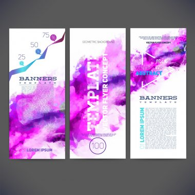 Template banners, brochure
