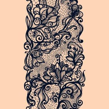 Abstract lace ribbon