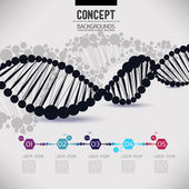Photo Abstract geometric  DNA, molecules design
