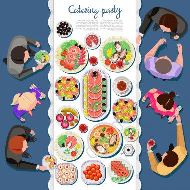 catering party, food, dishes concept
