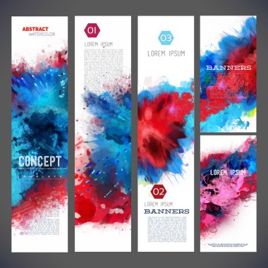 abstract banners, brochure templates