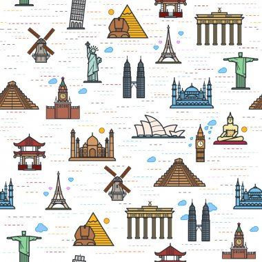 world attractions pattern