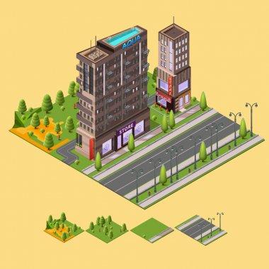 city, buildings, street, cityscape