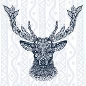 Fotografia segno di testa di cervo con lornamento