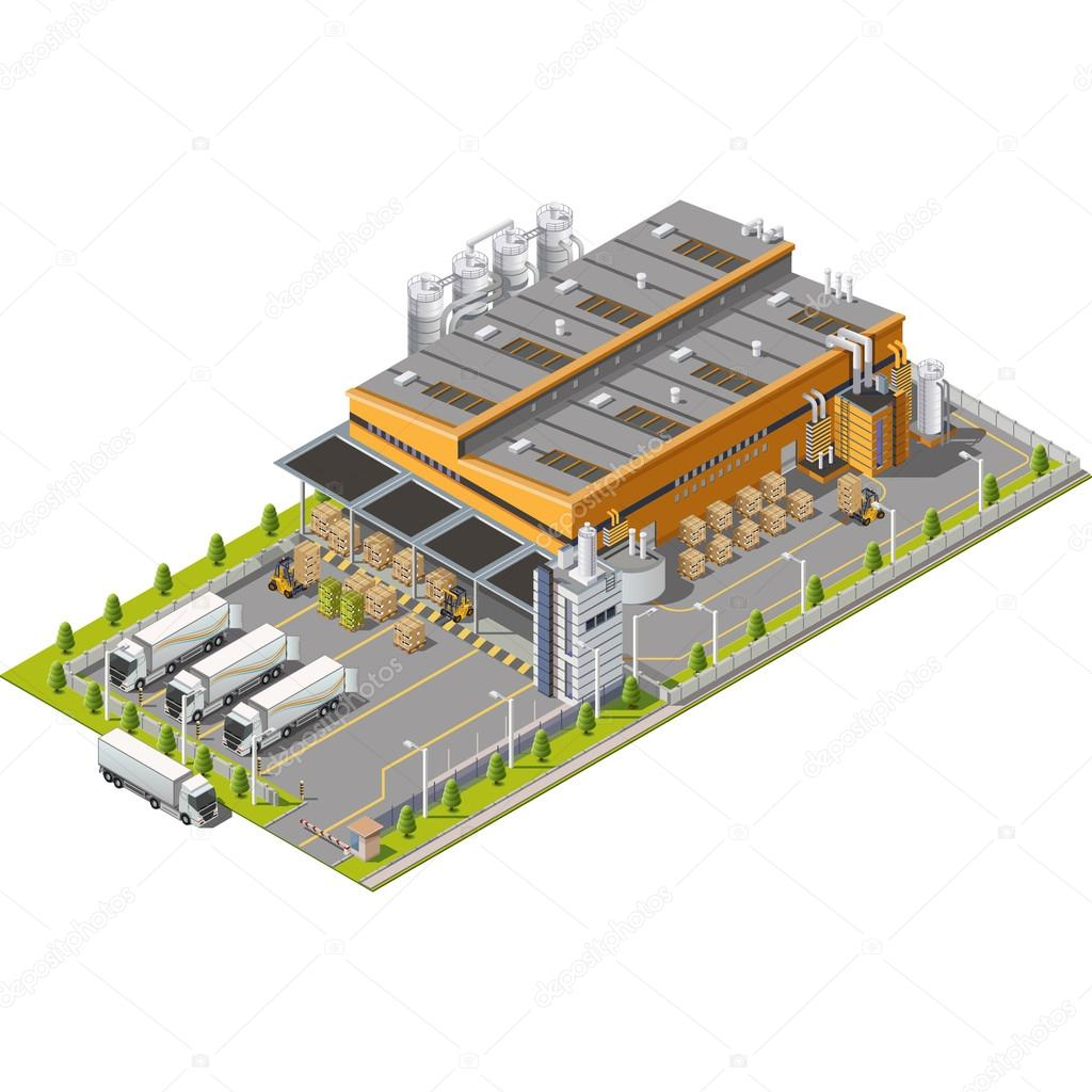 Warehouse Industrial area concept