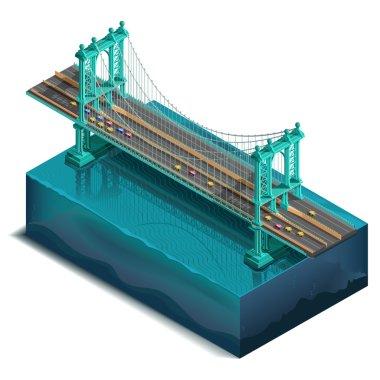 Bridge over the river,design, unit structure