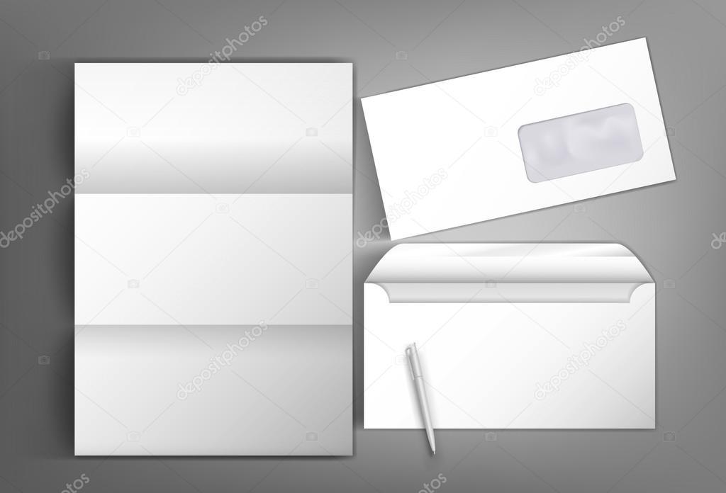 Mock Up Vorlage Design Mit Einem Umschlag Bereit Und Pen Leeren Lett