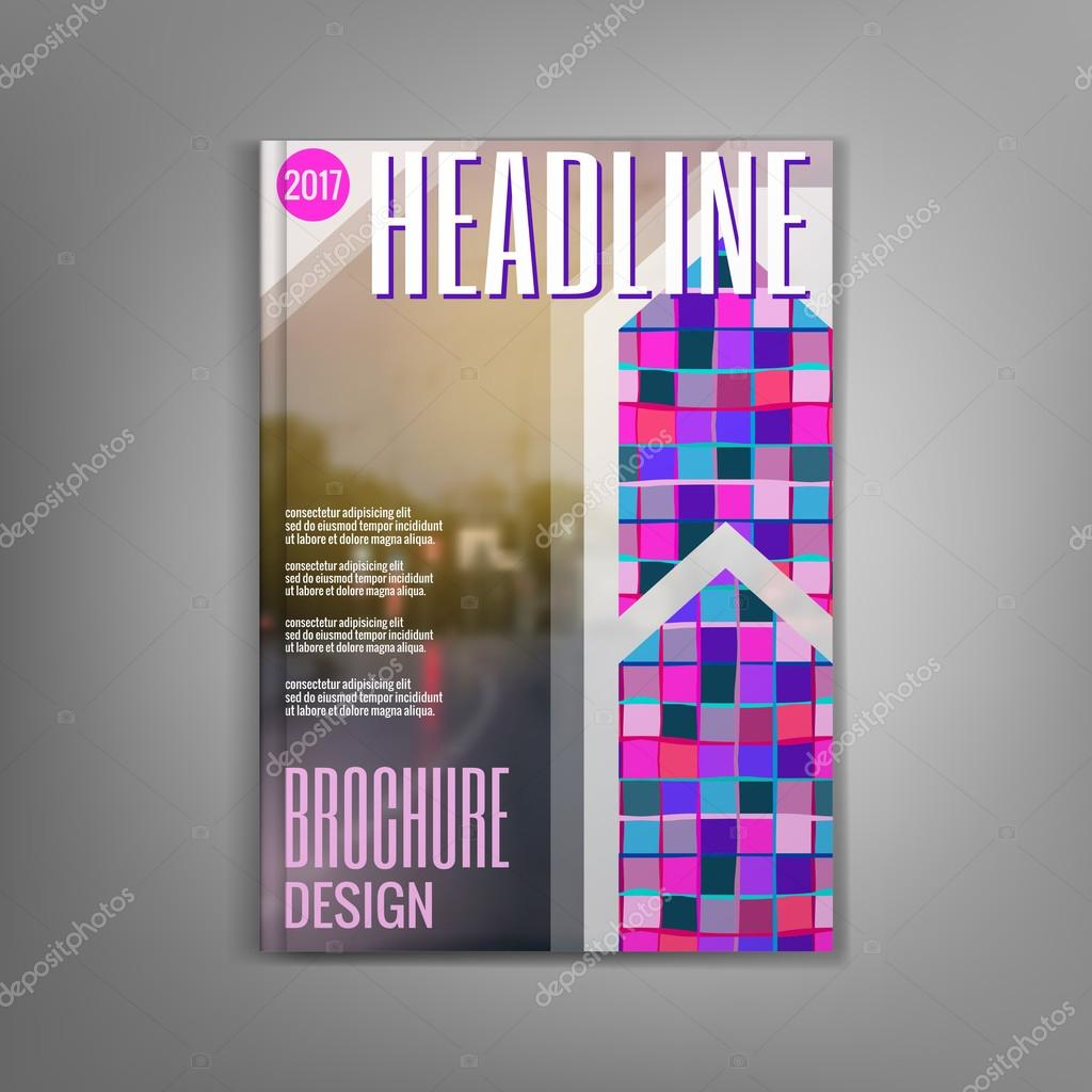 Layout-Magazin-Cover, kreative Gestaltung Broschüre. Vektor-illustra ...