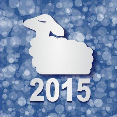 Happy New Year Sheep 2015 design card vector