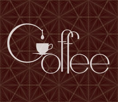 Coffee design template.Vector illustration flat design.