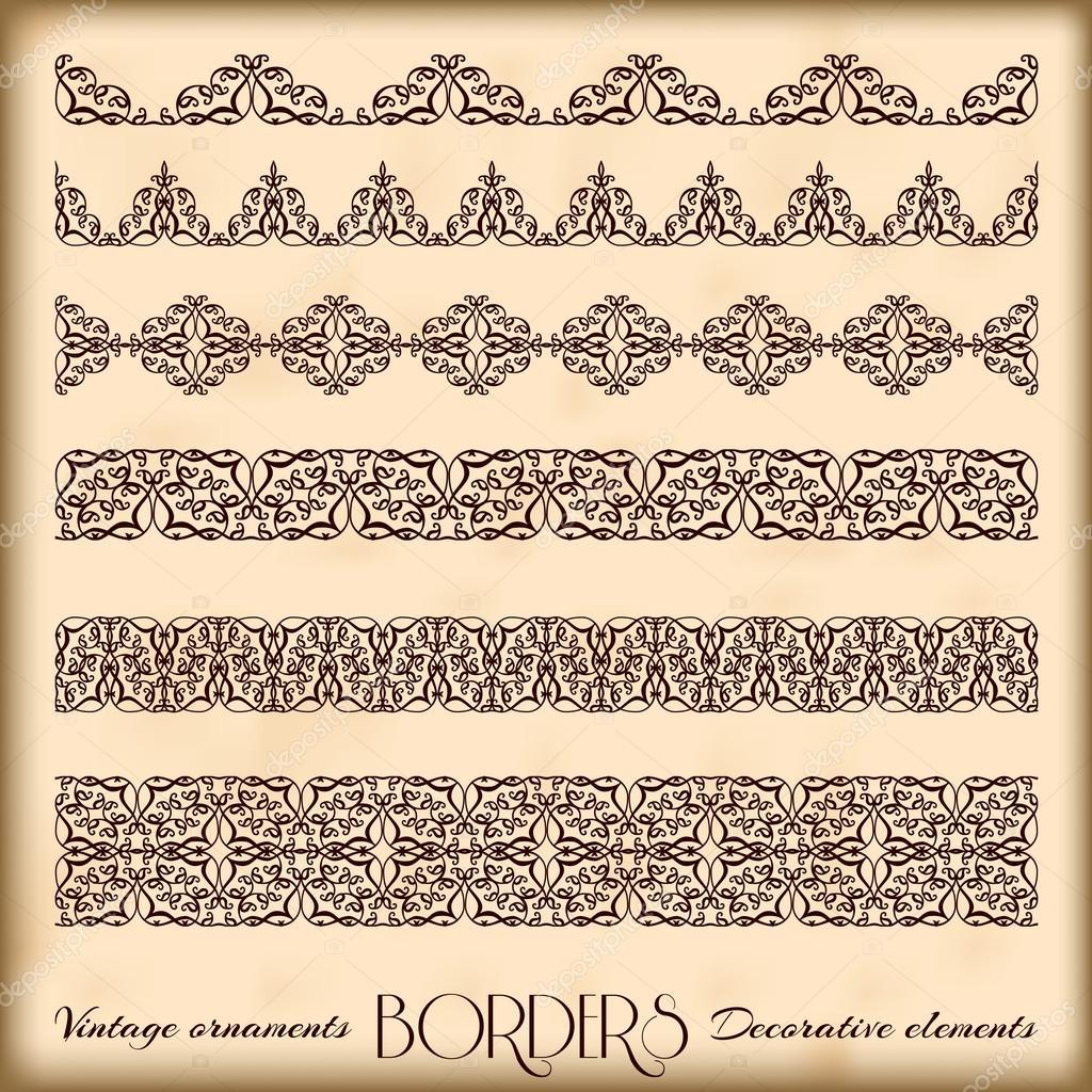 Jahrgang Ornamente und Seite Dekoration, exklusiv, höchste quali ...