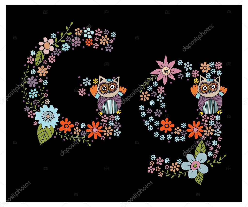 The floral  letter G