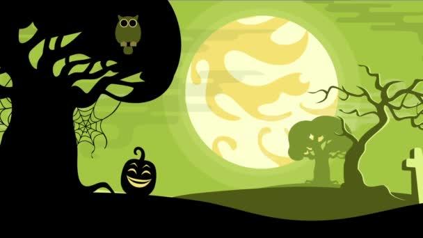 Halloween karikatura bezproblémovou tvořili animované pozadí