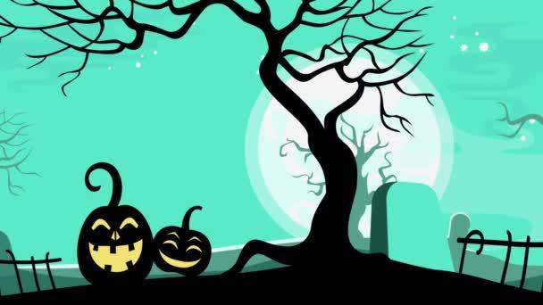 Halloween karikatura bezproblémovou tvořili animované pozadí.