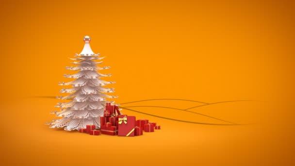 Vrolijke Kerstmis En Gelukkig Nieuwjaar Groet Intro Kaartsjabloon