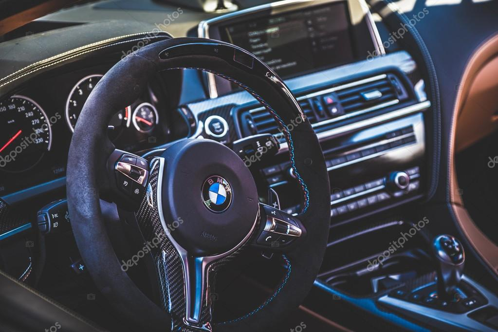 Steering wheel and dashboard of car