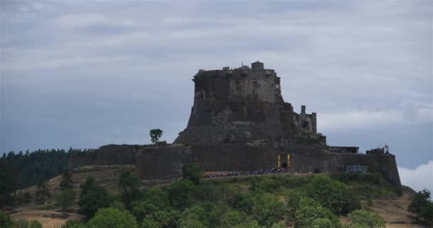 Murol, Puy de Dome, Auvergne, France. The middle age fortress dated XII th century