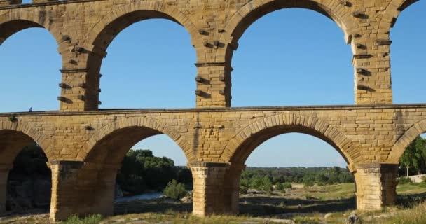 The Roman Bridge Pont du Gard and the Gardon River,Resmoulins, Gard, Occitanie,France