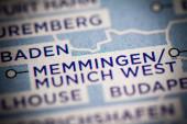 Memmingen. Deutschland auf der Karte