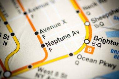 Neptune Av. 6 Av/Central Park West/Queens Blvd/Myrtle Blvd Line. on the map