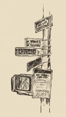 Hand drawn Street signs