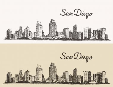 Sketch of San Diego city