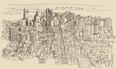 San Francisco city sketch