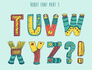 Cartoon robot font