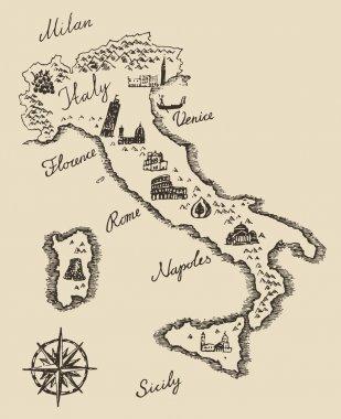 Old Italian map