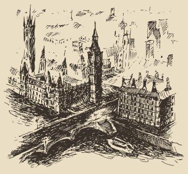 Hand drawn London city