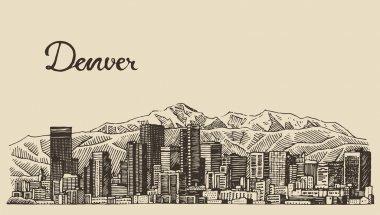 Hand drawn Denver city