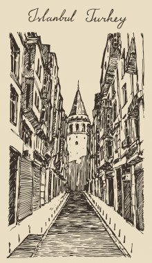 Sketch of Istanbul city