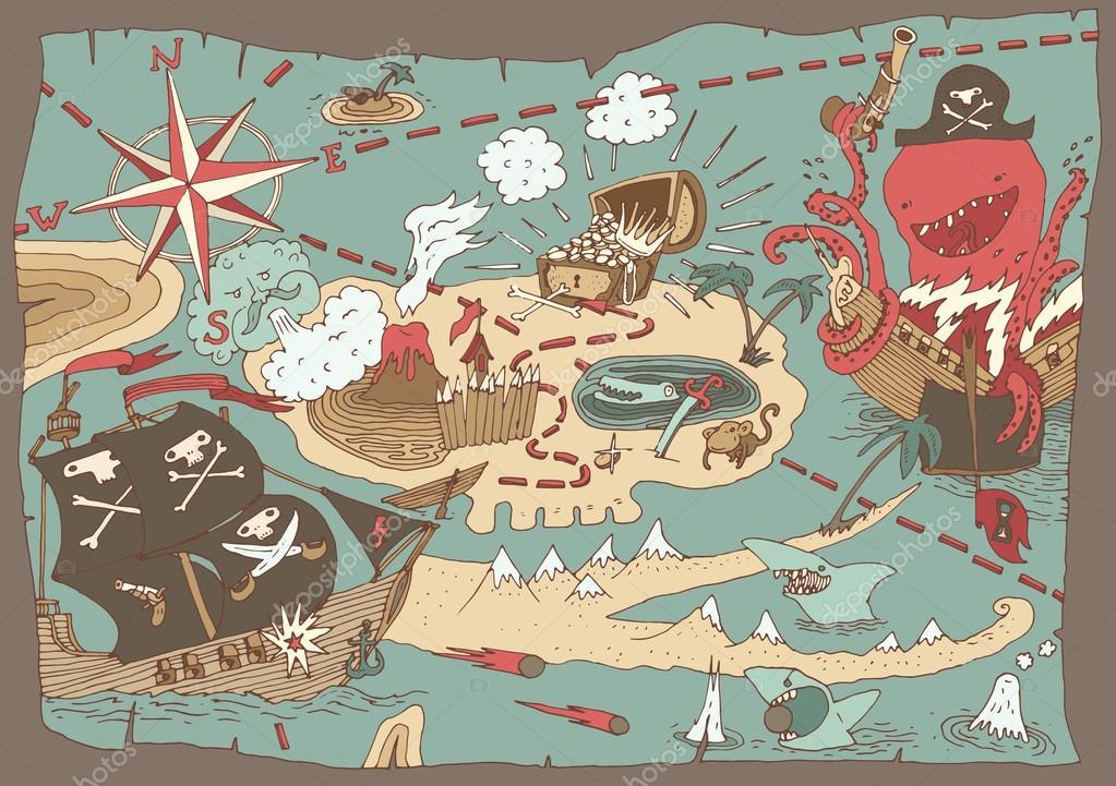 kincses térkép Sziget Kincses Térkép — Stock Vektor © grop #72755263 kincses térkép