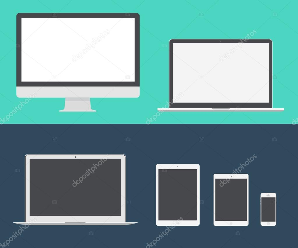 Elektronische Geräte Symbole — Stockvektor © grop #72756889