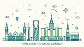 Skyline Saudi Arabia Trendy vector linear style
