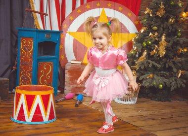 Little girl at circus